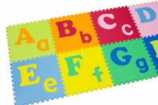 Colorful Alphabet Puzzle. Royalty Free Stock Photo