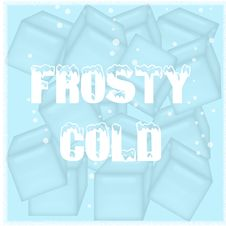 Free Frosty Cold Poster Royalty Free Stock Image - 20226146