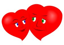 Free Two Hearts Stock Photography - 20226622