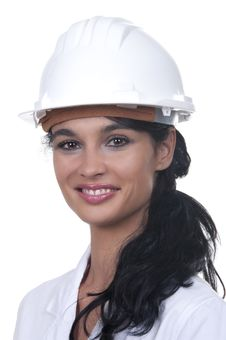 Free Professional With White Helmet Stock Image - 20226631