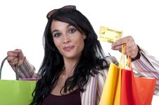 Free Brunette Shopping Royalty Free Stock Photography - 20226827