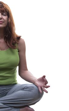 Redhead Woman Practicing Yoga Royalty Free Stock Photography