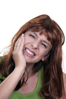 Free Redhead Woman With Toothache Royalty Free Stock Photography - 20226987
