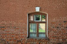 Window In Brick Wall. Royalty Free Stock Photography