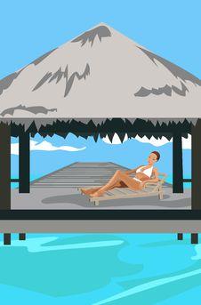Free Vacation In The Tropics Royalty Free Stock Photos - 20227738