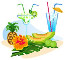 Free Cocktails And Fruits Stock Photo - 20227790