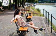 Beautiful Latina Having Fun In The Park Royalty Free Stock Photos