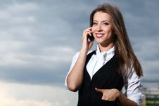 Free Businesswoman With Cellphone Royalty Free Stock Images - 20228959