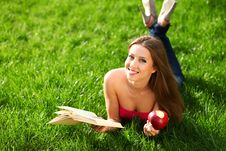 Free Woman In The Park With Book Royalty Free Stock Images - 20228969