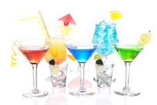 Free Alcoholic Cocktails Variation Martini Royalty Free Stock Photography - 20229117