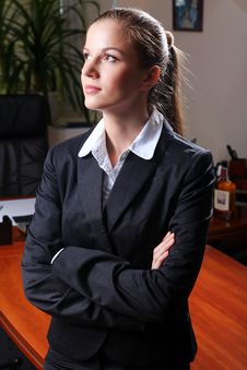 Free Businesswoman In Black Suit Royalty Free Stock Photography - 20229147