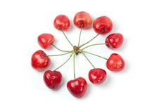 Free Cherries In Circle Shape Stock Images - 20229214