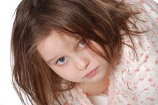Free Little  Girl Wearing A Pajamas Stock Images - 20229544