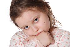 Free Little  Girl Wearing A Pajamas Royalty Free Stock Photo - 20229555