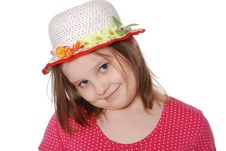 Free Portrait Of Little Girl Wearing A Hat Ans Smiling Stock Image - 20229571