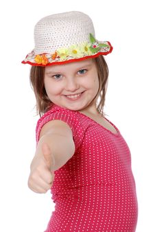 Portrait Of A Beautiful And Confident Girl Showing Royalty Free Stock Photo