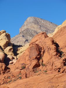Free Turtle Rock Over Red Rock Stock Image - 20229701