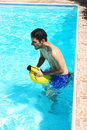 Free Man In Swimming Pool Stock Image - 20230591