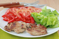 Free Fried Pork With Salad Royalty Free Stock Image - 20231286