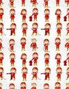 Free Cartoon Fireman Seamless Pattern Stock Photos - 20231583