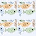 Free Seamless Retro Fish Background Stock Images - 20231854