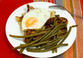 Free French Bean And Scrambled Egg On The Plate Royalty Free Stock Photo - 20236715