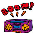 Free Doddle Boombox Royalty Free Stock Images - 20237449