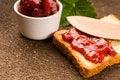 Free Breakfast Of Cherry Jam On Toast Stock Photo - 20239330
