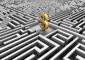 Free Dollar Symbol In A Maze Royalty Free Stock Images - 20239959