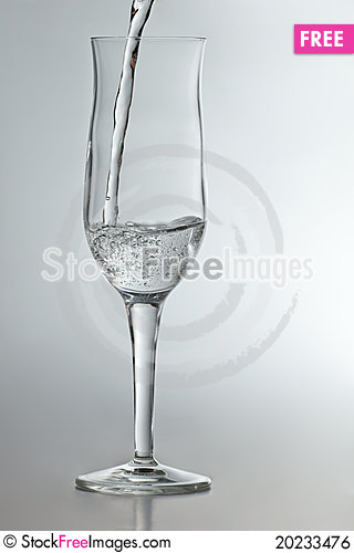 Free Champagne Glass With Sparkling Water Royalty Free Stock Image - 20233476