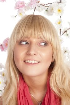 Free Girl Among Flowers Stock Photos - 20230803