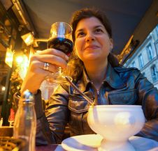 Free Woman Sitting In Restaurant Stock Photo - 20230830