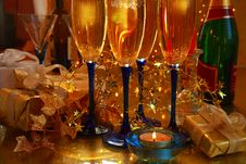 Free Close-up Of Champagne In Glasses Stock Images - 20230874