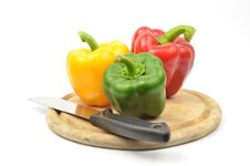 Fresh Colorful Paprika Royalty Free Stock Photos