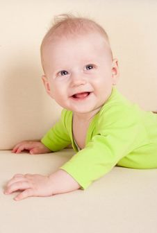 Free Baby Lying On Sofa Royalty Free Stock Photography - 20231207