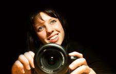 Free Beautiful Girl With Camera Royalty Free Stock Photo - 20231605