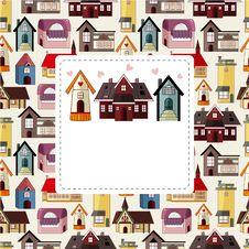 Free Cartoon House/shop Card Royalty Free Stock Photo - 20231615