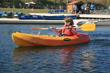 Free Boy Kayaking Stock Photos - 20231623