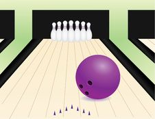 Free Bowling Alley Royalty Free Stock Photo - 20232875