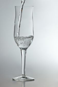 Champagne Glass With Sparkling Water Royalty Free Stock Image