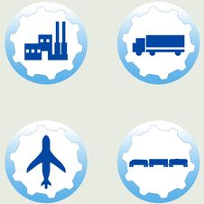 Free Industrial Icons Set Royalty Free Stock Images - 20233639