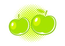 Free Two Green Apples Royalty Free Stock Images - 20233789