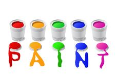 Free Paint Cans. Royalty Free Stock Photo - 20233865