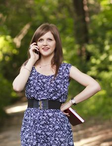 Free Cute Girl Talking On The Phone Stock Photography - 20234232