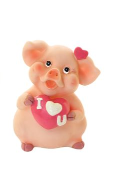 Free Piggy For Small Coins In The Form Of Toys Royalty Free Stock Image - 20234486