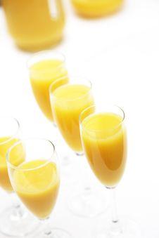 Free Many Glasses Of Fresh Orange Juice Royalty Free Stock Images - 20234969