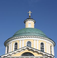 Dome Of Orthodox Temple Complex In Kosino; Moscow Royalty Free Stock Images