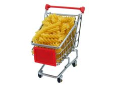 Free Pasta In A Shopping Trolly Royalty Free Stock Photography - 20235157