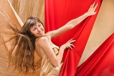 Free Young Girl In A Red Cloth Stock Photos - 20235243