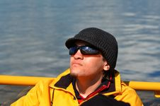 Free Young Man On Boat Stock Photography - 20235432